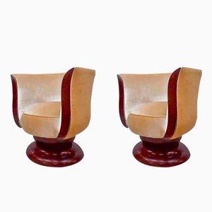 Sillones Tulip Art Déco de Hotel Le Malandre. Juego de 2