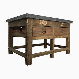 Vintage Industrial Pine Printers Table, 1940s