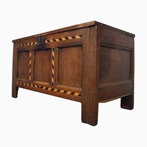 Antique English Oak Coffer, 1770s