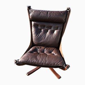 Chaise à Dossier Haut Falcon par Sigurd Resell pour Vatne Lenestolfabrikk, 1990s