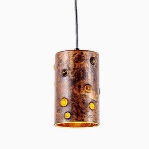 Lampe à Suspension Brutaliste Vintage en Laiton par Nanny Still pour Raak