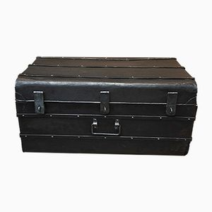 Vintage Industrial Metal Trunk, 1920s