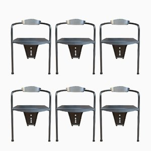 Modernist Stackable Armchairs, 1980s, Set of 6
