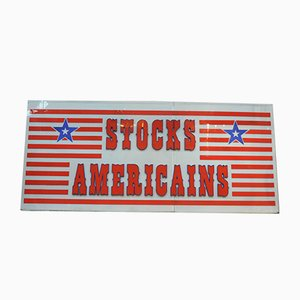 Vintage Stocks Americains Store Sign, 1970s