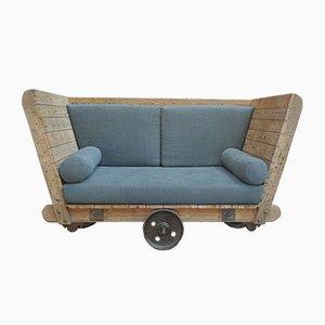 Industrielles Vintage 2-Sitzer Sofa, 1920er