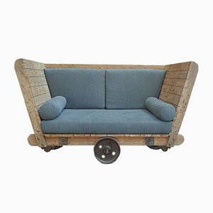 Vintage Industrial 2-Seater Sofa, 1920s