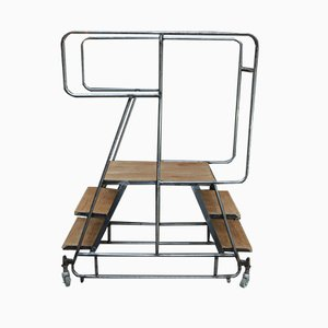 Industrielles Vintage Ladder Regal, 1950er