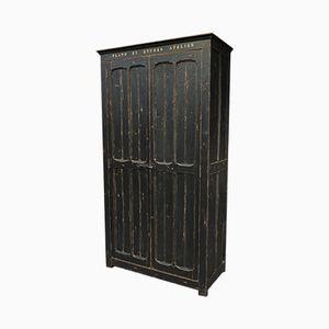 Industrieller Vintage Schrank aus schwarzer Fichte, 1930er