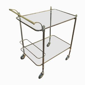 Vintage Brass & Glass Trolley, 1970s