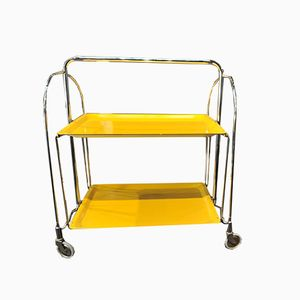 Metal Bar Cart with Trays, 1960s