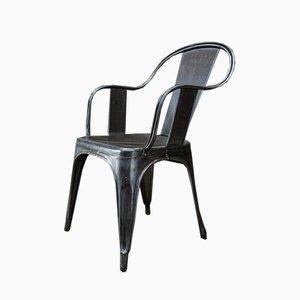 Vintage Stuhl aus poliertem Metall, 1950er