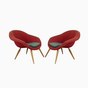 Mid-Century Shell Armchairs, Set of 2