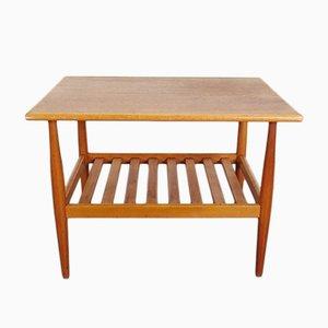 Mesa auxiliar vintage de teca