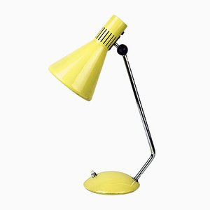 Mid-Century Italian Yellow Desk Lamp from Stilnovo