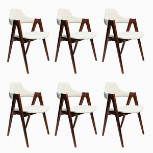 Mid-Century Compass Dining Chairs by Kai Kristiansen for SVA Møbler, 1960s, Set of 6