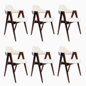 Mid-Century Compass Esszimmerstühle von Kai Kristiansen für SVA Møbler, 1960er, 6er Set