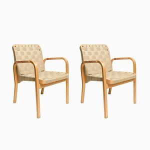 Vintage Armchairs by Alvar Aalto, 1947, Set of 2