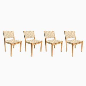 Chaises de Salle à Manger Modèle 615 Mid-Century par Alvar Aalto pour Artek, 1965, Set de 4