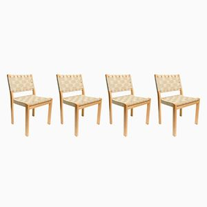 Mid-Century Model 615 Dining Chairs by Alvar Aalto for Artek, 1965, Set of 4
