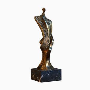 Scultura della serie Miniature in bronzo e marmo di Domenico Calabrone, anni '70