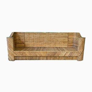 Geschichtetes Sofa aus Bambus, 1960er