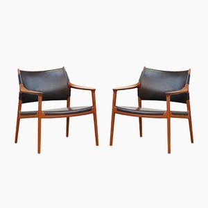 Teak Lounge Chairs by Torbjørn Afdal for Nesjestranda Møbelfabrikk, 1960s, Set of 2