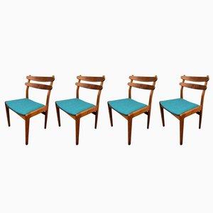 Dänische Vintage Esszimmerstühle aus Teak & Eiche von Slagelse Møbelværk, 4er Set