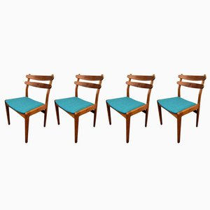 Vintage Danish Teak & Oak Dining Chairs from Slagelse Møbelværk, Set of 4