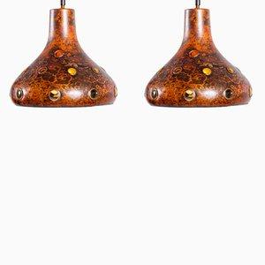 Vintage Brutalist Pendant Lamps by Nanny Still, Set of 2