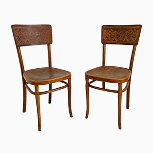 Vintage Bistro Chairs, 1930s, Set of 2