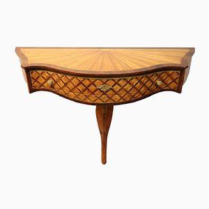 Vintage Konsolentisch aus Holz mit Intarsien, 1950er
