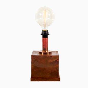 Lámpara de mesa danesa Mid-Century de cobre