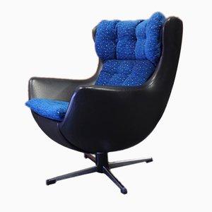 Mid-Century Egg Chair für Kinder aus schwarzem Vinyl von Arne Jacobsen