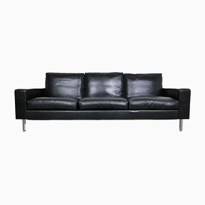 Vintage Black 3-Seater Sofa, 1970s