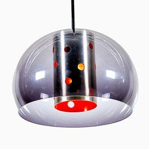 Lampe à Suspension Vintage en Plexiglas de Dijkstra Lampen