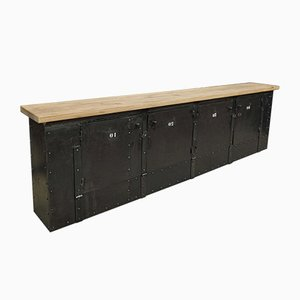 Vintage French Iron Sideboard, 1920s