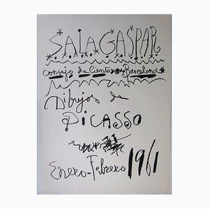 Poster di una mostra su Picasso di Sala Gaspar, 1961