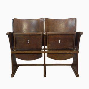 Vintage 2-Sitzer Kinobank von TON, 1950er