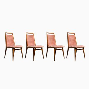 Vintage Cherry Wood Dining Chairs from Casala, Set of 4