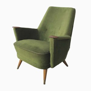 Mid-Century Green Lounge Chair, 1950s