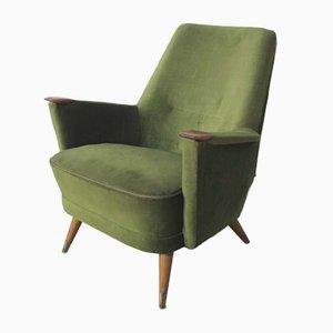 Sillón Mid-Century verde, años 50
