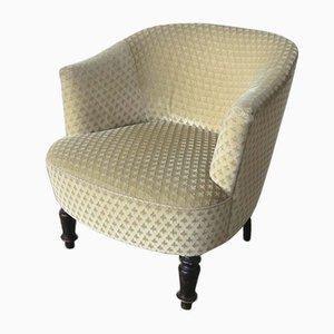 Antiker englischer Fleur de Lis Sessel