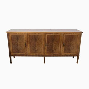 Vintage Inlaid Wood Sideboard, 1950s