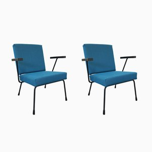 Model 415/1401 Lounge Chairs by Wim Rietveld for Gispen, 1950s, Set of 2