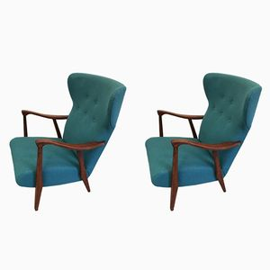 Dutch Lounge Chairs, 1950s, Set of 2
