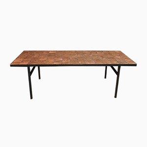 Table Basse en Mosaïque de Cuivre et Verre, 1960s