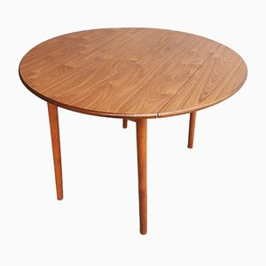 Round Drop Leaf Table, 1970s