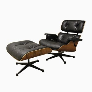 Lounge Chair & Ottoman by Charles & Ray Eames for Vitra, 1970s