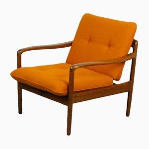 Deutscher Antimott Sessel mit Gestell aus Teak von Knoll, 1960er