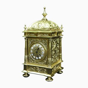 French Brass Mantel Clock from E. Portelance, 1880s